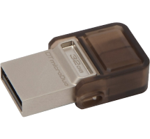 Флеш-накопитель Kingston DataTraveler microDuo 32Gb (USB 2.0/microUSB)